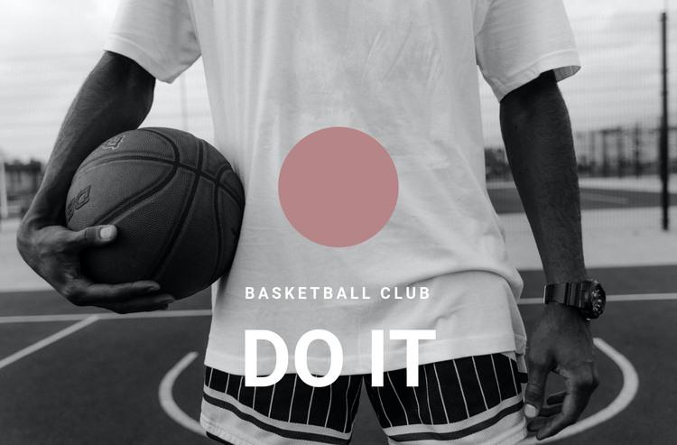Basketball club Homepage Design