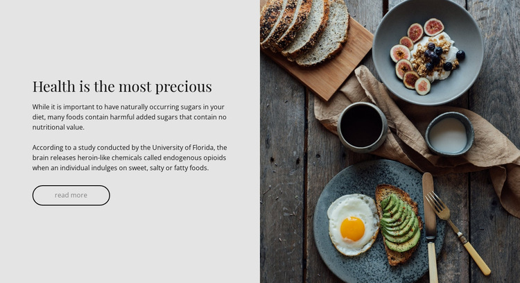 Healthy and yummy HTML5 Template