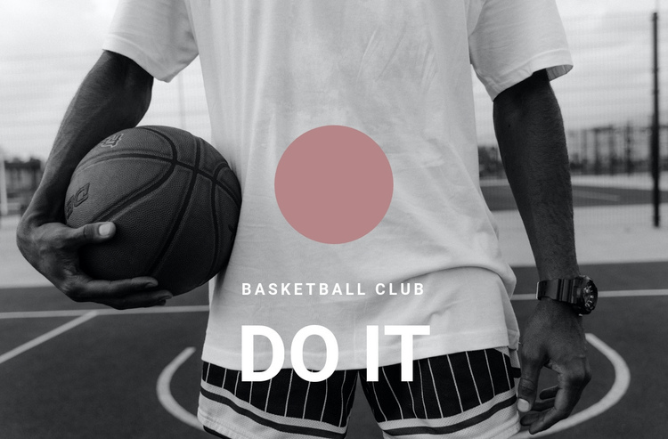 Basketball club One Page Template