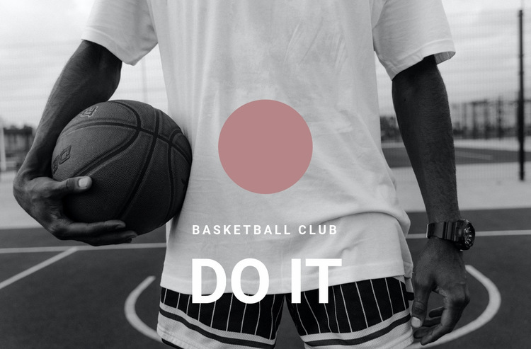 Basketball club Web Page Design