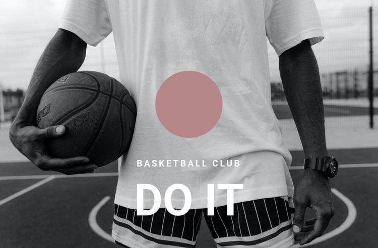 Basketball club Web Page Designer
