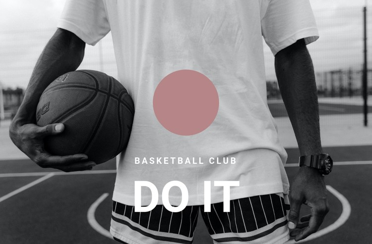Basketball club WordPress Template