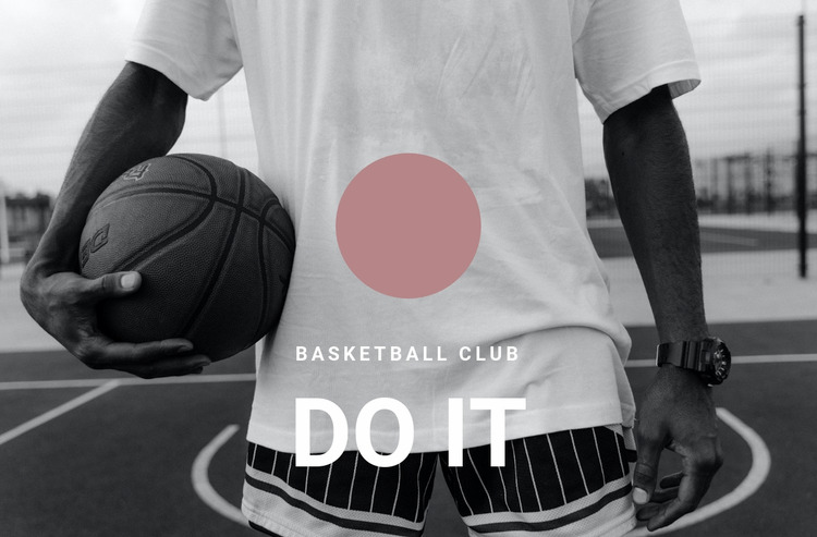 Basketball club WordPress Website Builder