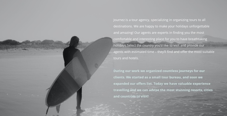 Surf camp CSS Template
