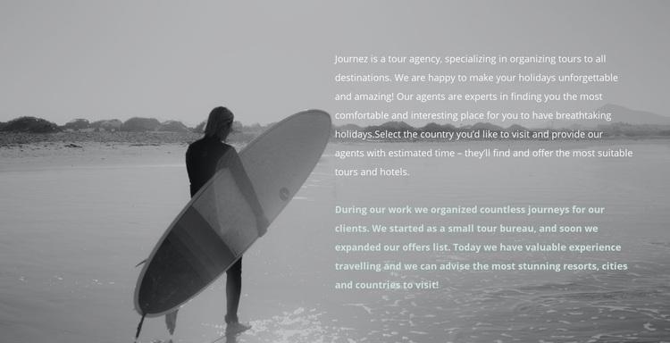 Surf camp Web Page Designer