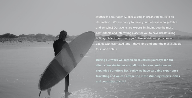 Surf camp WordPress Website Builder