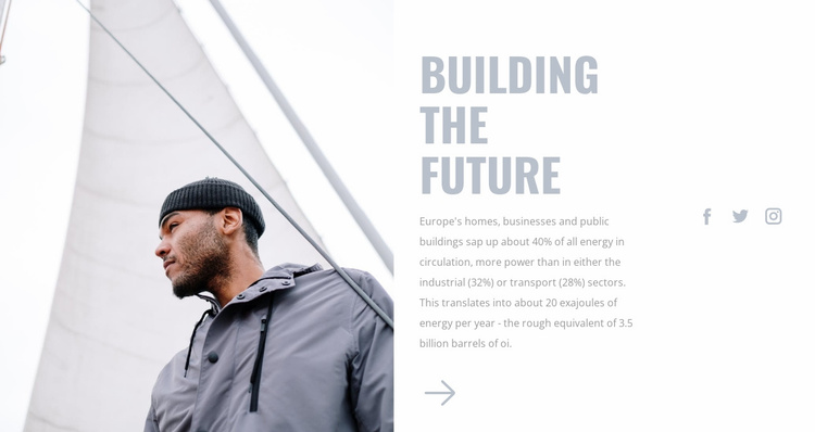 Building cities together Website Template