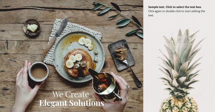 We create elegant solutions HTML Template