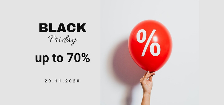 Black friday sale for all HTML5 Template