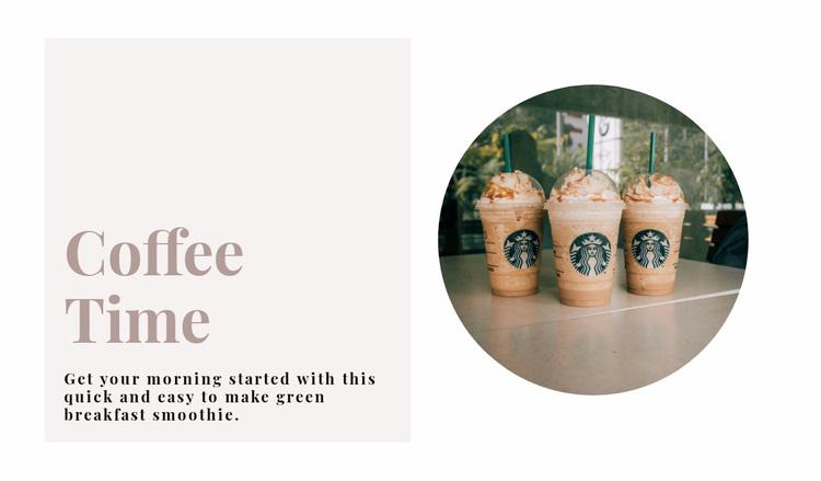 Coffee time Web Page Designer