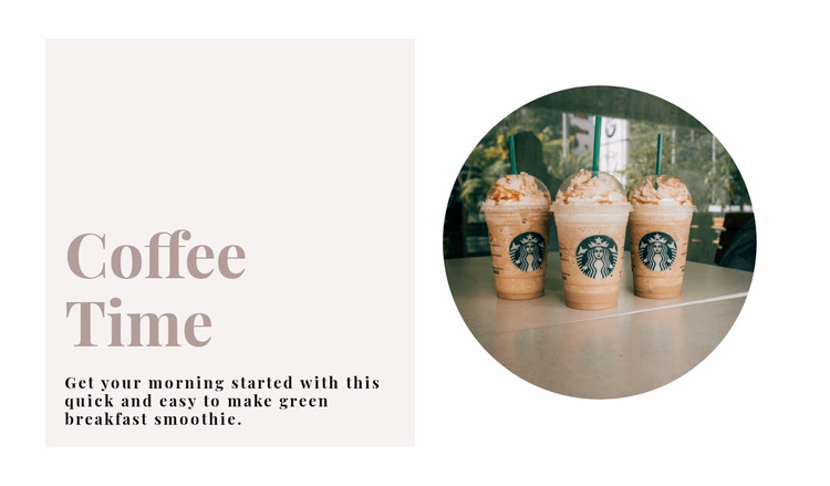 Coffee time Website Mockup