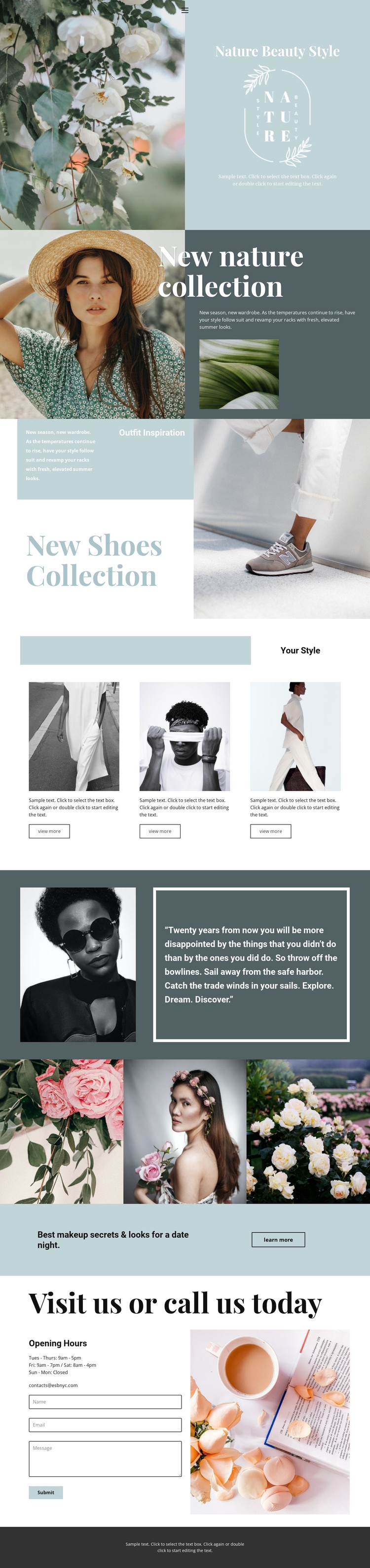 Nature collection WordPress Template