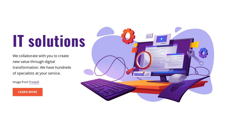 IT solutions HTML Template