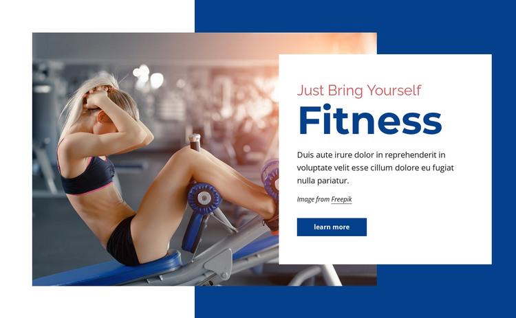 Fitness center HTML Template