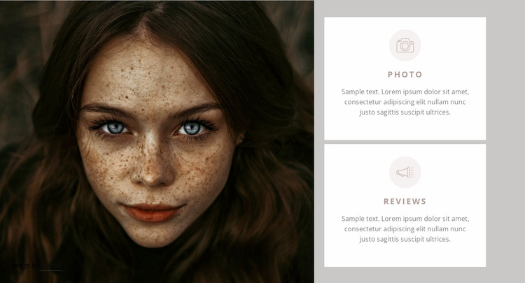 Portrait photography Website Template