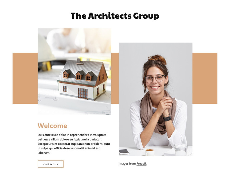 Architecture and design HTML Template