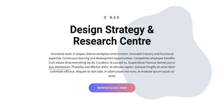 Centrum projektowania Szablon witryny sieci Web