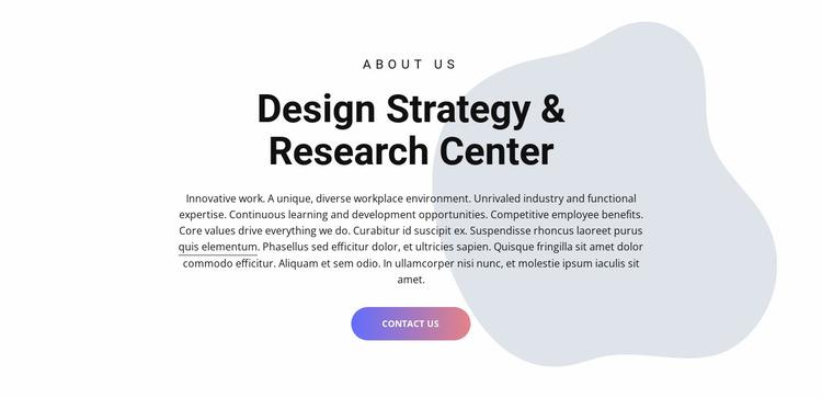 Design center Website Mockup