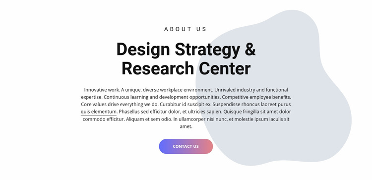 Design center Landing Page