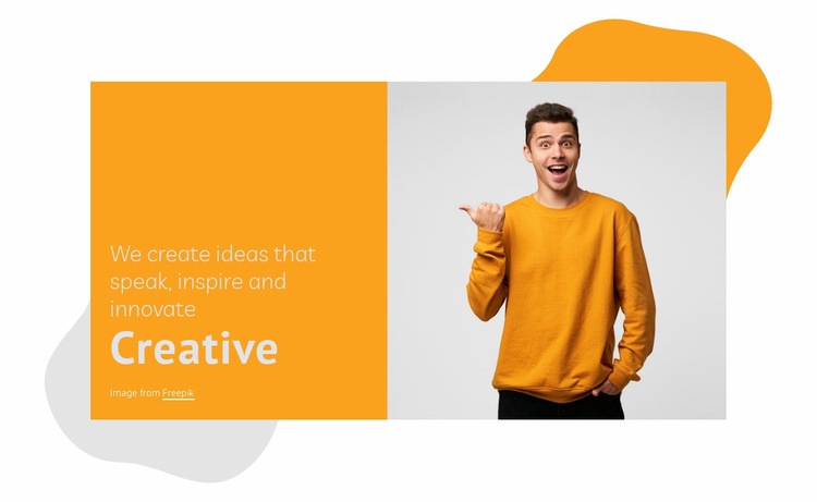 We activate your brand Website Template