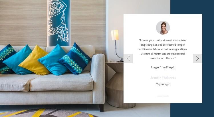 Testimonials about interior studio WordPress Template