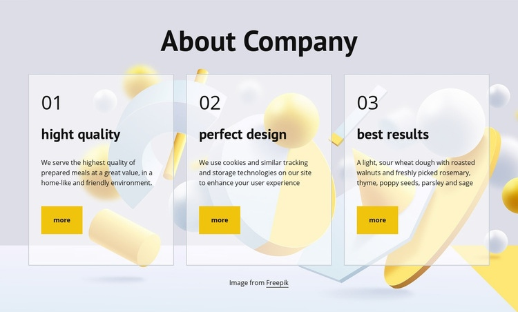 About company Html Code Example