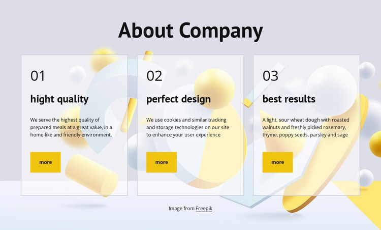 About company HTML Template