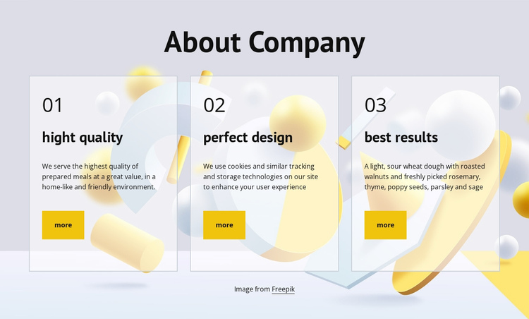 About company One Page Template