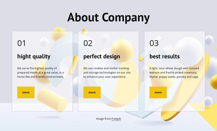 About company Website Mockup