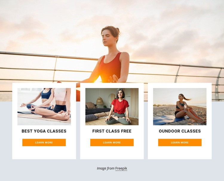 Outdoor yoga retreat Html Code Example
