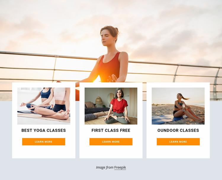 Outdoor yoga retreat Website Mockup