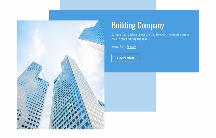 Construction business Website Template
