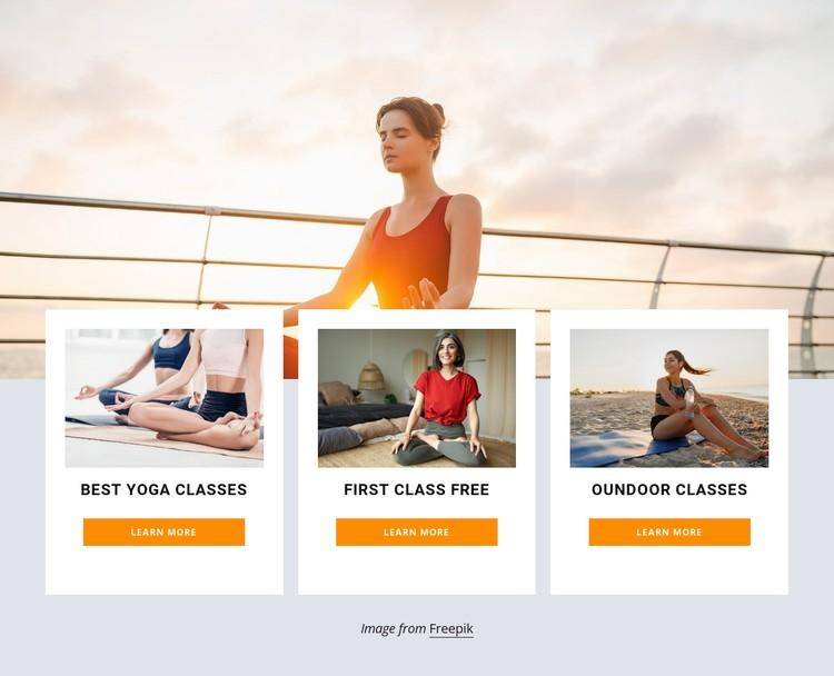 Outdoor yoga retreat WordPress Template