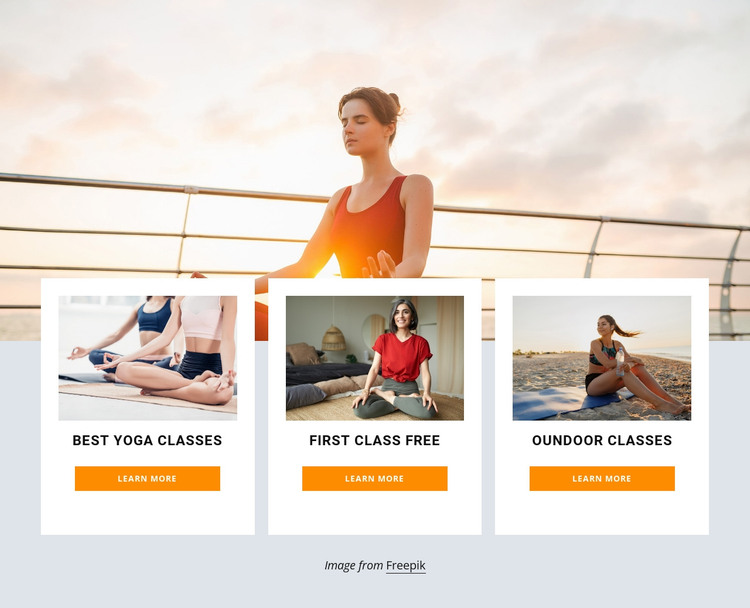 Outdoor yoga retreat WordPress Theme