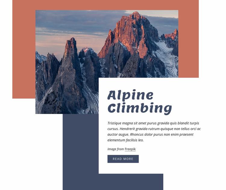 Alpine climbing Website Template
