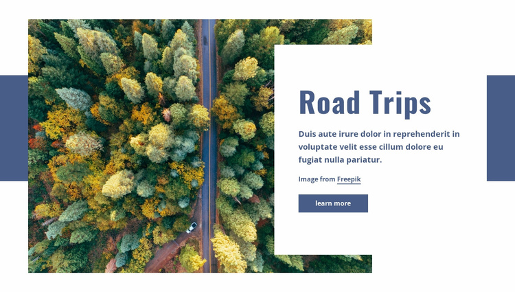 Road trips Website Template