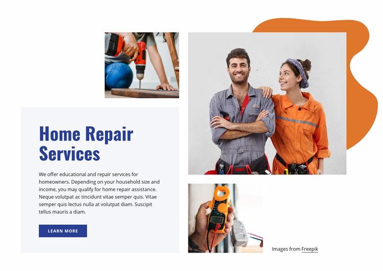 Home improvement professionals Web Page Design