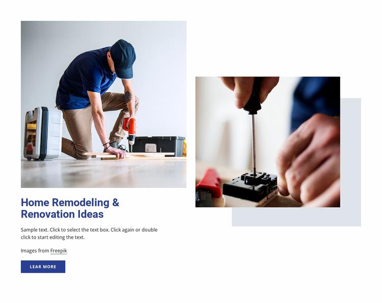 Home renovation ideas Website Template