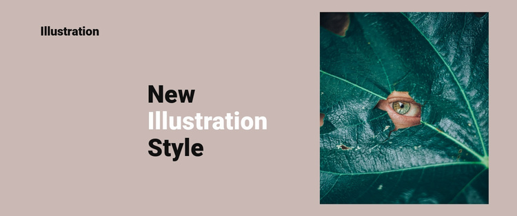 New style in illustration Website Template