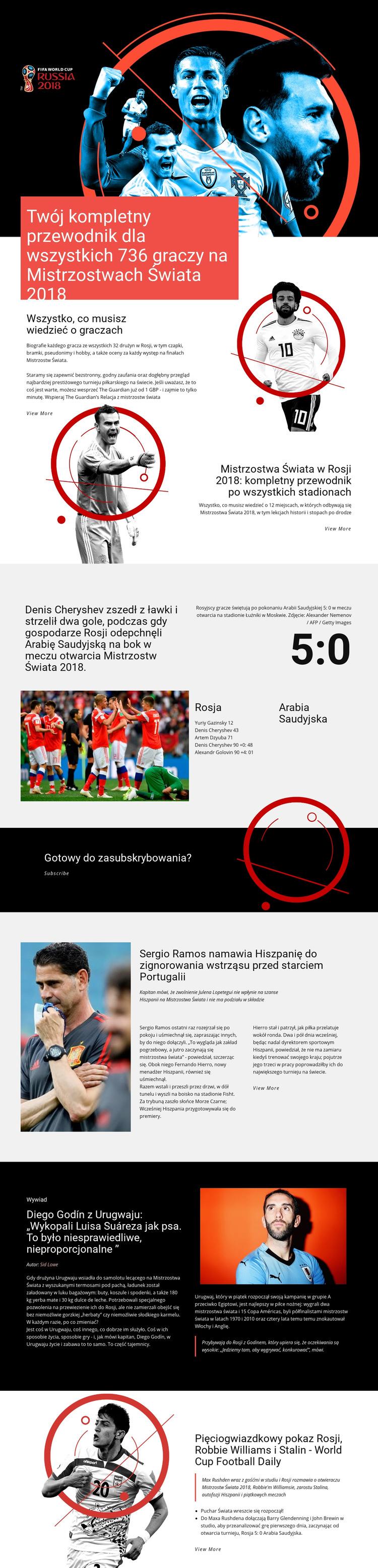 Mistrzostwa Świata Szablon witryny sieci Web