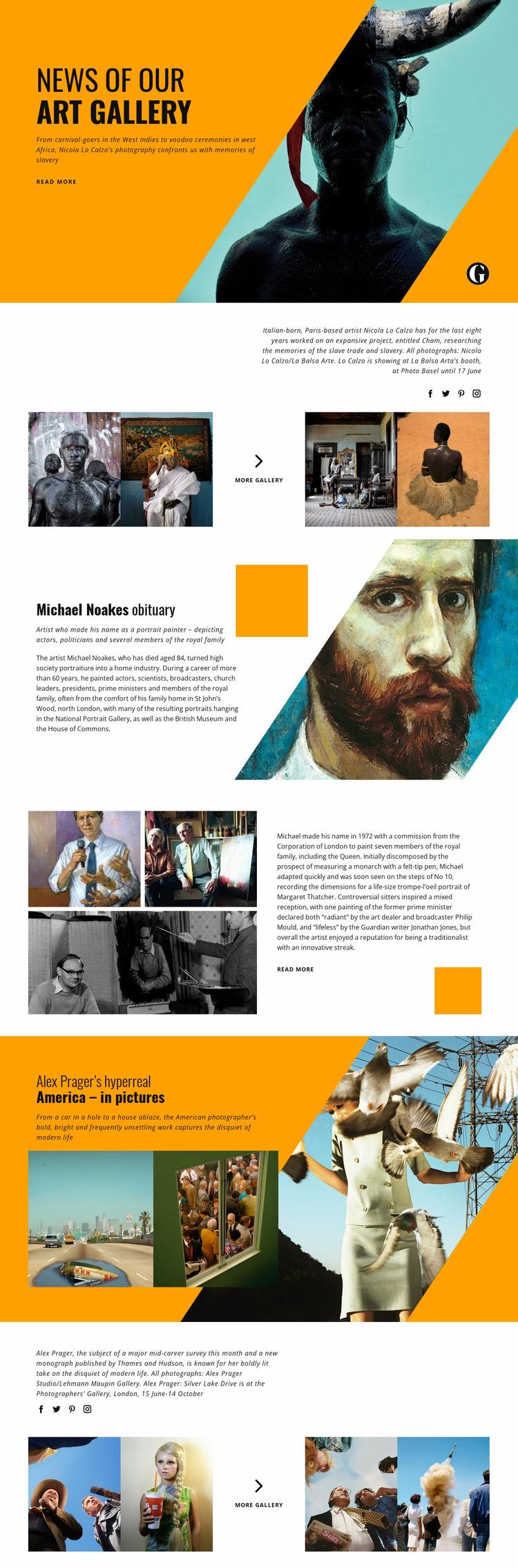 Art Studio Website Mockup