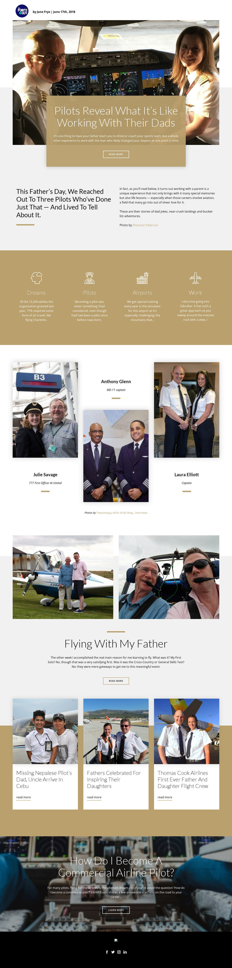 Flying With My Father HTML Template