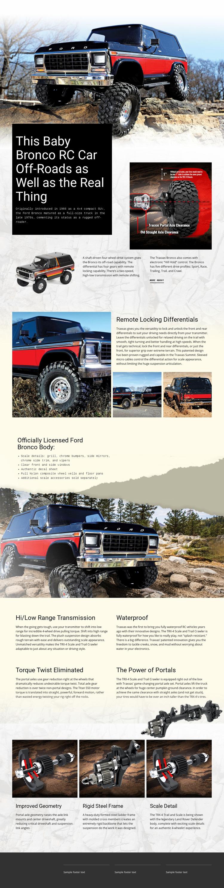 Bronco Rc Car Web Page Designer