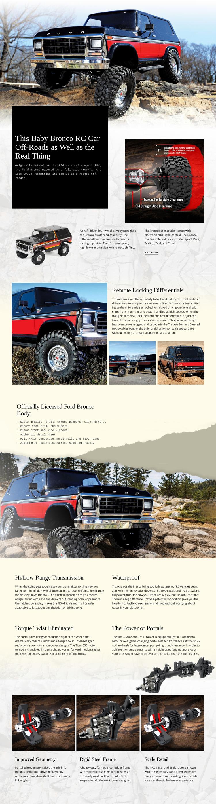 Bronco Rc Car Website Mockup