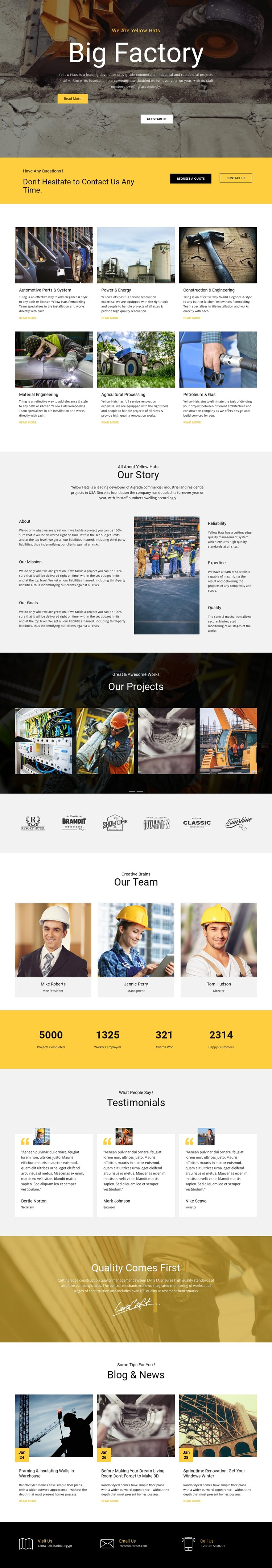 Factory works industrial CSS Template