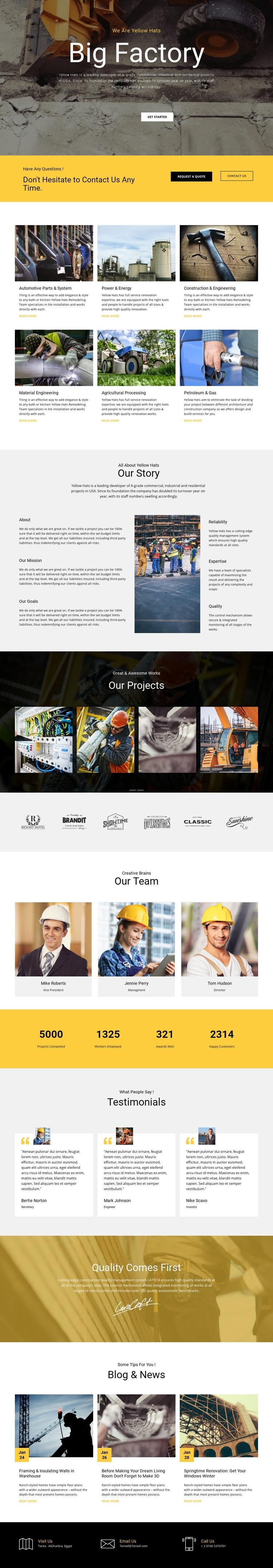 Factory works industrial Wysiwyg Editor Html