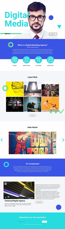 Digital Media Web Page Designer