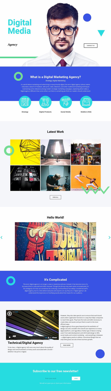 Digital Media Website Builder Templates