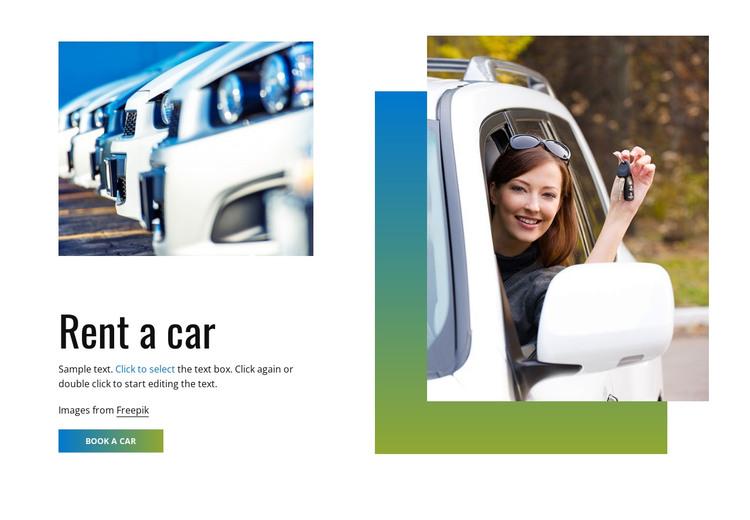 Rent a car HTML Template