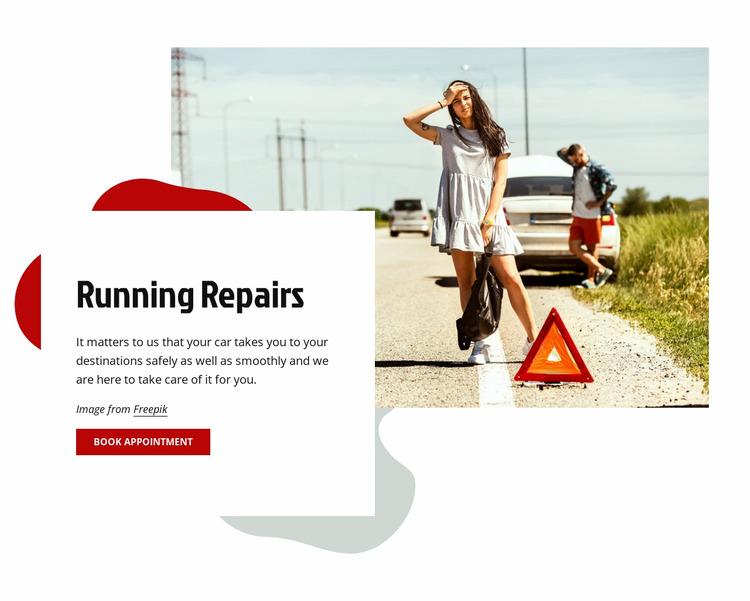 Running car repairs Html Website Builder